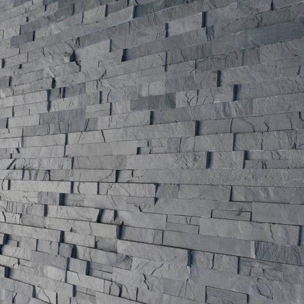 Panele naturalne na elewacje grafit castle