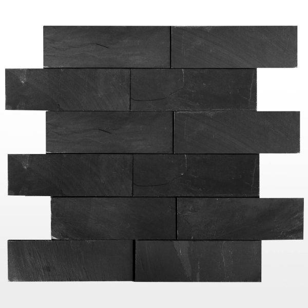 łupek na ścianę black slate